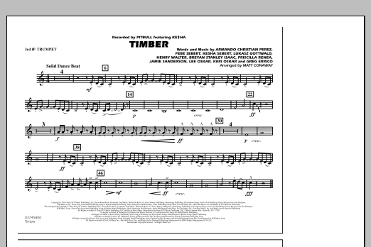 page one of Timber - 3rd Bb TrumpetASALTTEXT