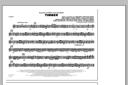 Timber - F Horn (Marching Band)