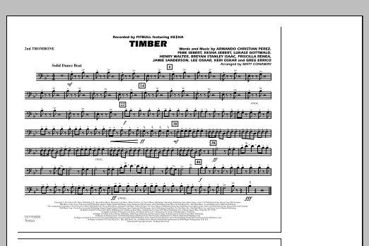 Timber - 2nd Trombone (Marching Band)