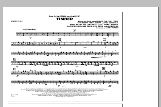 Timber - Baritone B.C. (Marching Band)