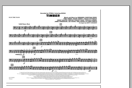 Timber - Electric Bass (Marching Band)