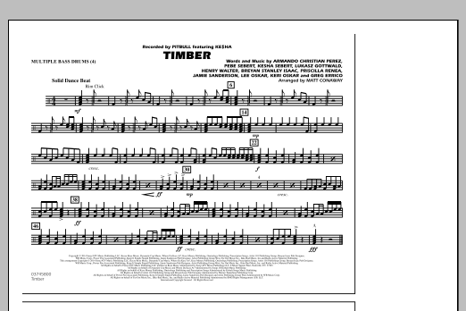 Timber - Multiple Bass Drums (Marching Band)