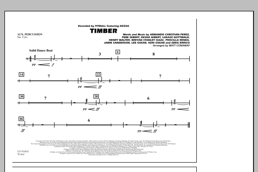 Timber - Aux Percussion (Marching Band)