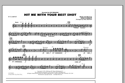 Hit Me with Your Best Shot - Bb Clarinet (Marching Band)