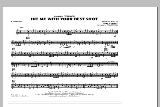 Hit Me with Your Best Shot - Bb Tenor Sax (Marching Band)