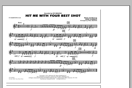 Hit Me with Your Best Shot - Eb Baritone Sax (Marching Band)