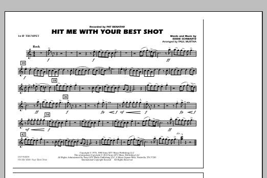 Hit Me with Your Best Shot - 1st Bb Trumpet (Marching Band)