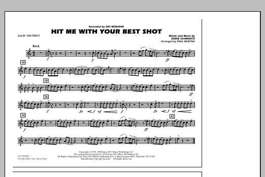 Hit Me with Your Best Shot - 2nd Bb Trumpet (Marching Band)
