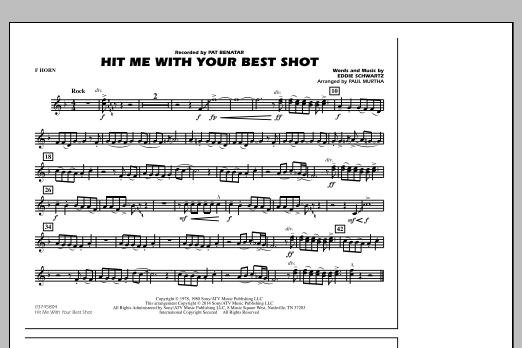 Hit Me with Your Best Shot - F Horn (Marching Band)