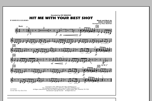 Hit Me with Your Best Shot - Bb Horn/Flugelhorn (Marching Band)
