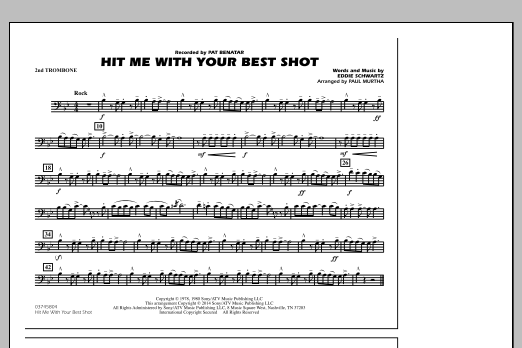 Hit Me with Your Best Shot - 2nd Trombone (Marching Band)