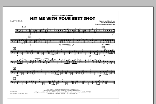 Hit Me with Your Best Shot - Baritone B.C. (Marching Band)