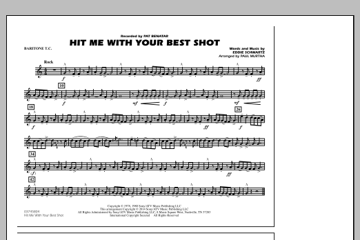 Hit Me with Your Best Shot - Baritone T.C. (Marching Band)