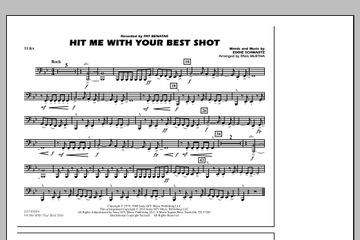 Hit Me with Your Best Shot - Tuba (Marching Band)