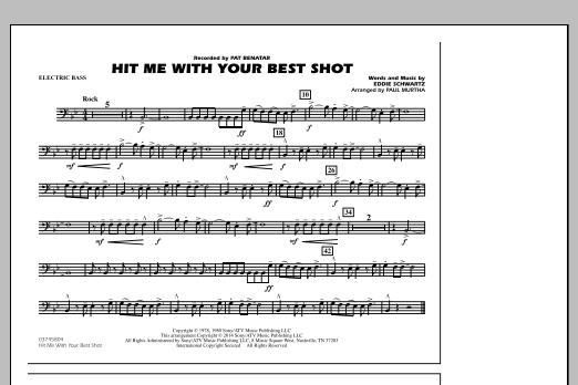 Hit Me with Your Best Shot - Electric Bass (Marching Band)