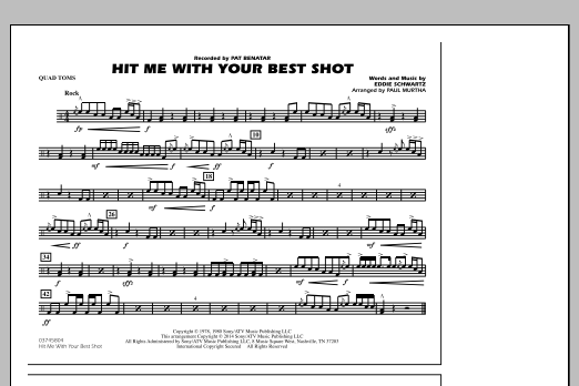 Hit Me with Your Best Shot - Quad Toms (Marching Band)
