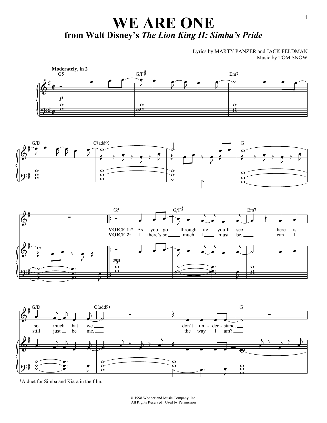 We Are One Sheet Music