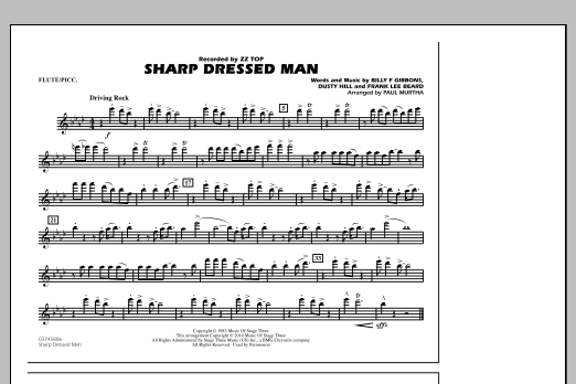 Sharp Dressed Man - Flute/Piccolo (Marching Band)