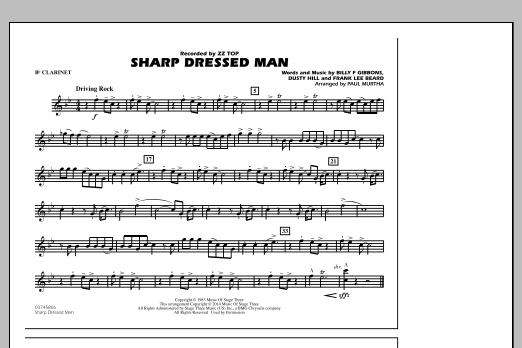 Sharp Dressed Man - Bb Clarinet (Marching Band)