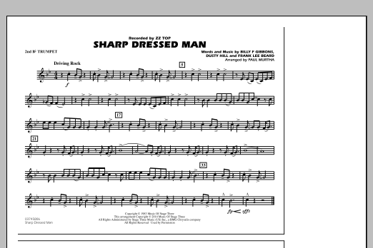 Sharp Dressed Man - 2nd Bb Trumpet (Marching Band)