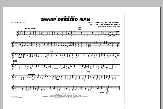 Sharp Dressed Man - 3rd Bb Trumpet (Marching Band)