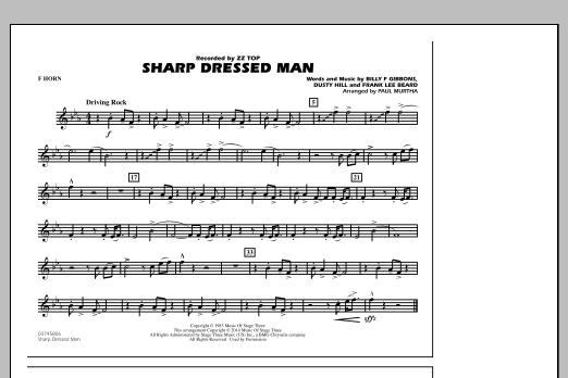 Sharp Dressed Man - F Horn (Marching Band)