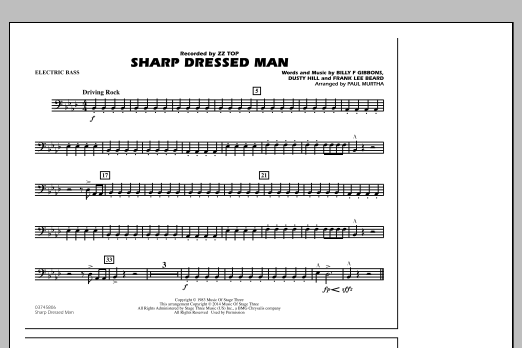 Sharp Dressed Man - Electric Bass (Marching Band)