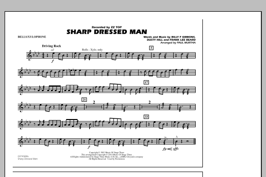 Sharp Dressed Man - Bells/Xylophone (Marching Band)
