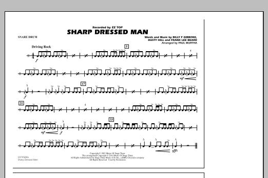 Sharp Dressed Man - Snare Drum (Marching Band)