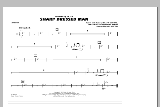 Sharp Dressed Man - Cymbals (Marching Band)