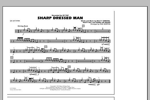 Sharp Dressed Man - Quad Toms (Marching Band)