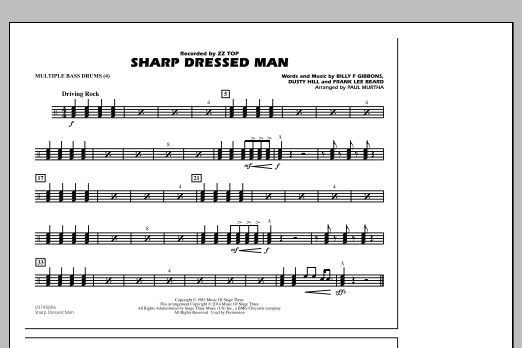 Sharp Dressed Man - Multiple Bass Drums (Marching Band)