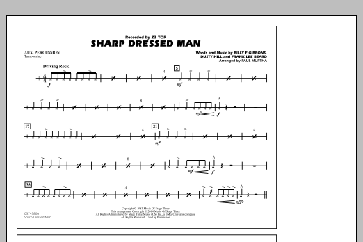 Sharp Dressed Man - Aux Percussion (Marching Band)