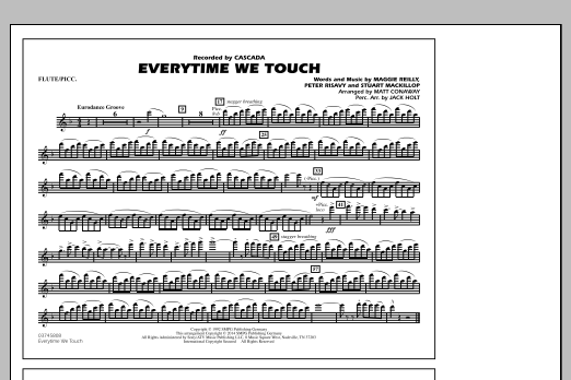 Everytime We Touch - Flute/Piccolo (Marching Band)