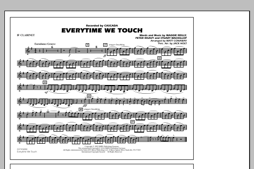 Everytime We Touch Bb Clarinet Sheet Music To Download