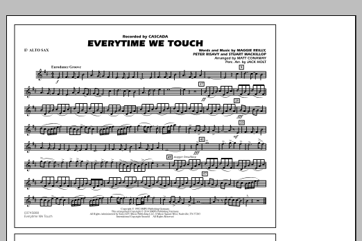Everytime We Touch - Eb Alto Sax - Sheet Music to Download