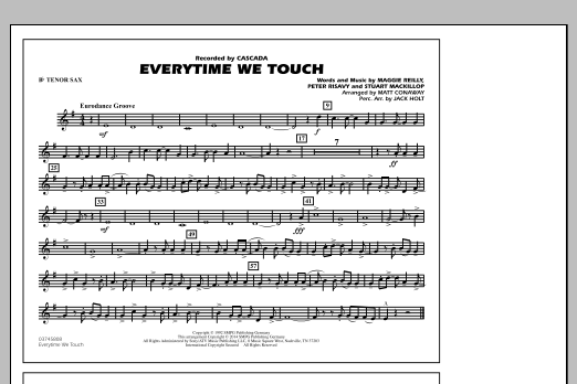 Everytime We Touch - Bb Tenor Sax (Marching Band)