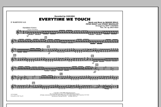 Everytime We Touch - Eb Baritone Sax (Marching Band)