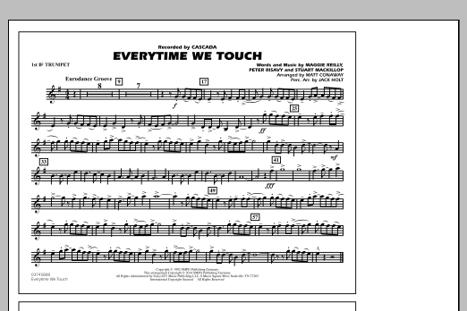 Everytime We Touch - 1st Bb Trumpet (Marching Band)