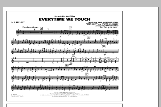 Everytime We Touch - 3rd Bb Trumpet (Marching Band)