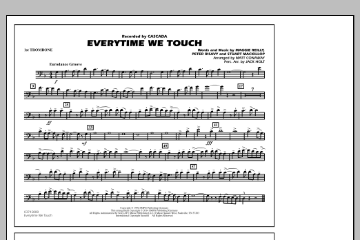 Everytime We Touch - 1st Trombone (Marching Band)