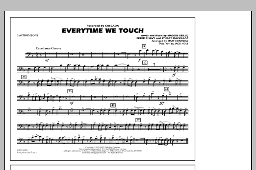 Everytime We Touch - 2nd Trombone (Marching Band)