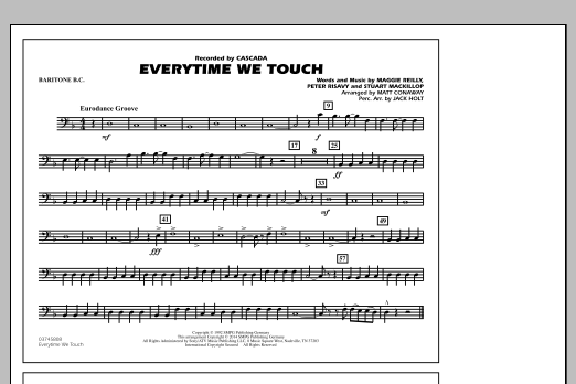 Everytime We Touch - Baritone B.C. (Marching Band)