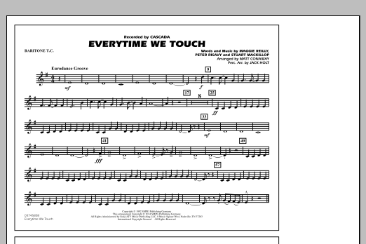 Everytime We Touch - Baritone T.C. (Marching Band)