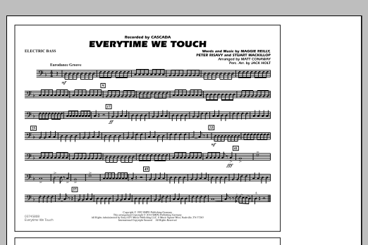 Everytime We Touch - Electric Bass (Marching Band)