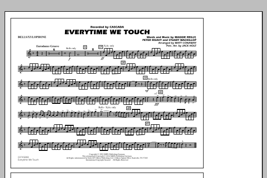 Everytime We Touch - Bells/Xylophone (Marching Band)