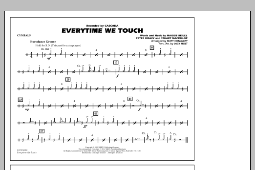 Everytime We Touch - Cymbals (Marching Band)