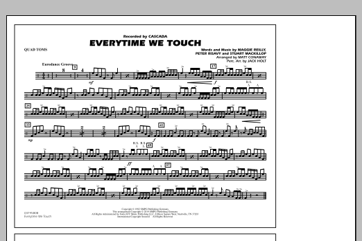 Everytime We Touch - Quad Toms (Marching Band)