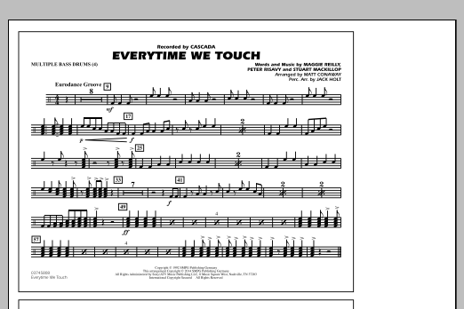 Everytime We Touch - Multiple Bass Drums (Marching Band)