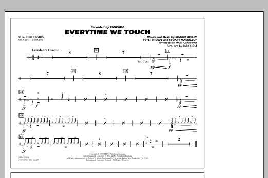 Everytime We Touch - Aux Percussion (Marching Band)
